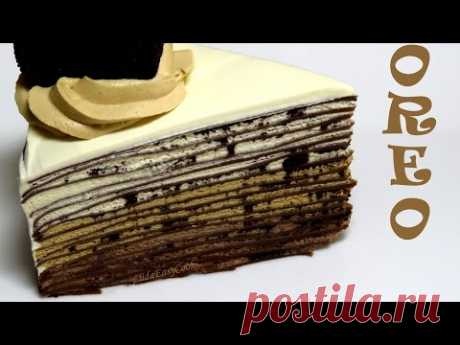 The OREO chocolate PANCAKE cake Cake without pastries the recipe of pancake cake