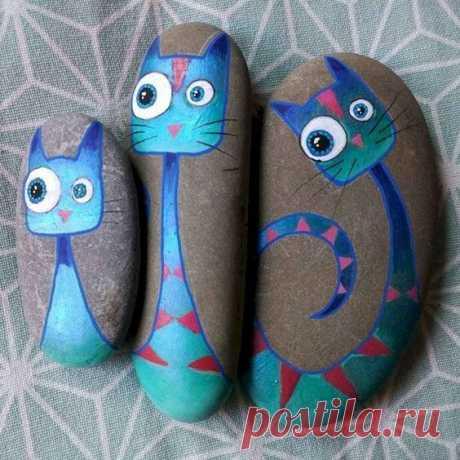 Идеи росписи камней для использования в интерьере — Сделай сам, идеи для творчества - DIY Ideas