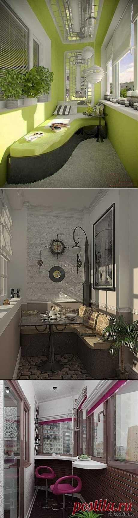 Идеи дизайна балконов и лоджий | Самоделкино