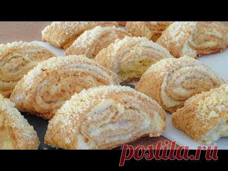 Просто Сворачиваем и Нарезаем! Очень Вкусное Слоеное Песочное Печенье не оставит равнодушным Никого!
