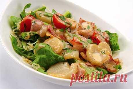 Салат из морских гребешков » Рецепты - готовим дома | «Наобед.kz»
