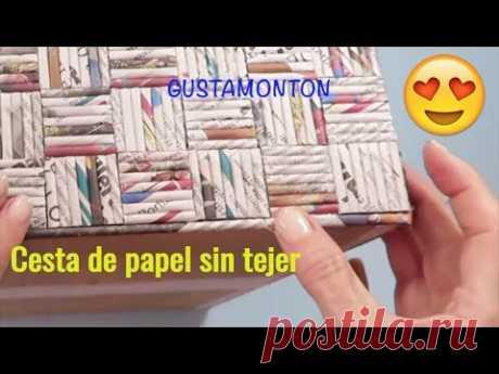 DIY Caja CESTA SIN TEJER, Manualidades recicladas