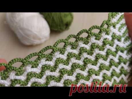 How to  Easy Crochet Knitting Pattern - Bu Model Şahane Zincirli Çapraz Örgü Modeli