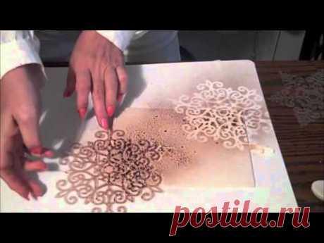 Мастер-класс- Скрапбукинг и 3D  картинки , чернила спрей
