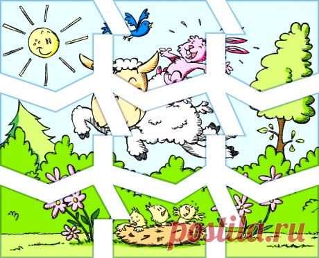 Разрезной пазл Счастливая овечка