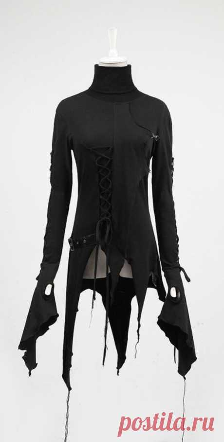 (2) asymmetric black long sleeve tunic <3 | Yes i'm a girl, and sometimes I like to wear | Туники, Готы и Куртки