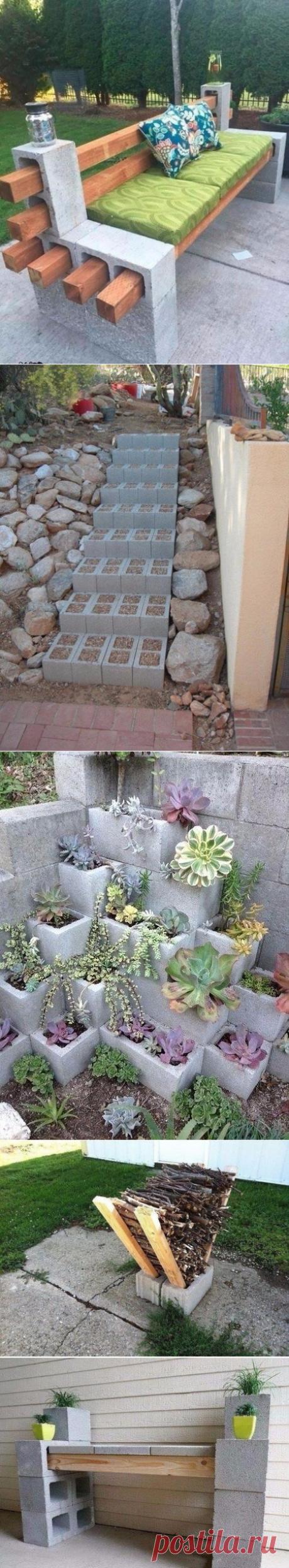 Если на даче остались лишние бетонные блоки
