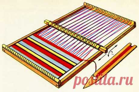Как сделать ткацкую рамку с валиком.