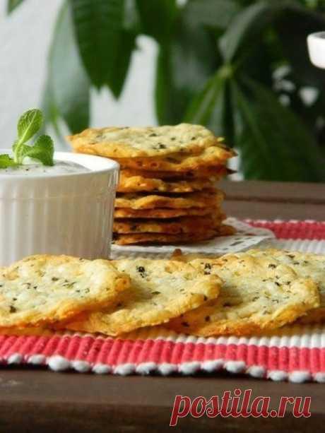 Хрустящие сырные крекеры! 10 минут - 2 ингредиента