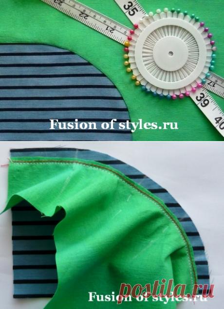 Как стачать детали с закругленными краями | Всё о моде, стиле, шитье и рукоделии СЛИЯНИЕ СТИЛЕЙ
