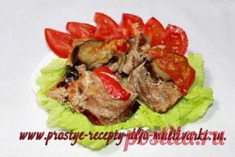 (+1) - Свинина-баян с баклажанами в мультиварке или в скороварке   Любимые рецепты
