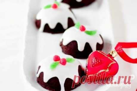 Новогодние шоколадные капкейки - пошаговый рецепт с фото на Повар.ру