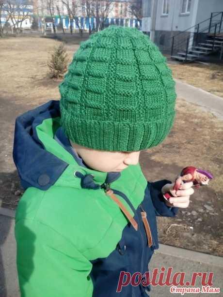 Демисезонные шапочки спицами для мальчика - Страна Мам