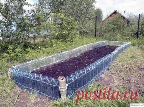 Способы применения пластиковых бутылок на даче