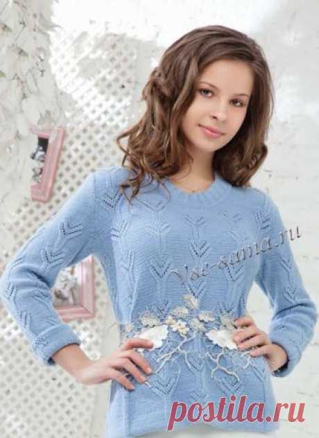 Пуловер спицами - москвичка - Пуловеры, свитера