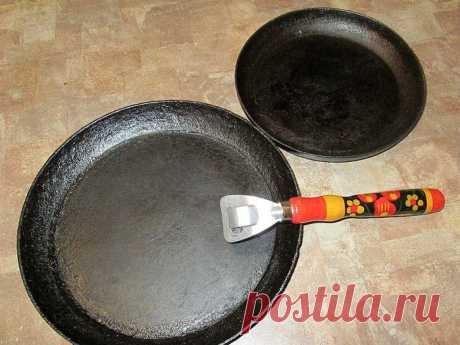 Useful tips: We clean frying pans I Bring to your attention a good way to clear baking sheets or...