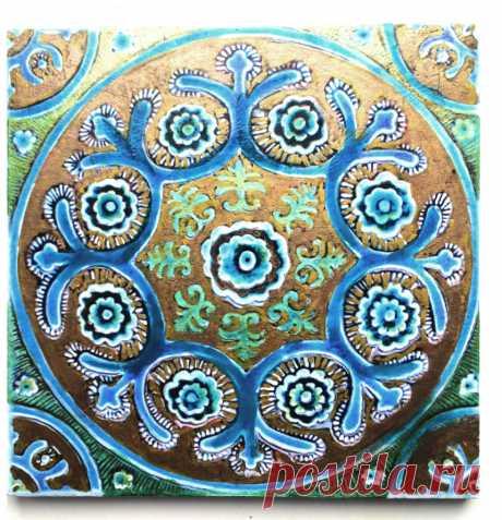 марокканская плитка, плитка бирюзовая ручной работы, интерьер восточный, восточная плитка, мандала, плитку марокканскую купить