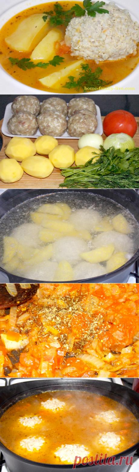 Суп с тефтелями/Сайт с пошаговыми рецептами с фото для тех кто любит готовить