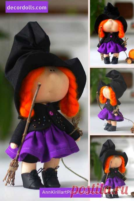 Halloween Baby Doll Small Original Witch Doll Sweet Gift | Etsy