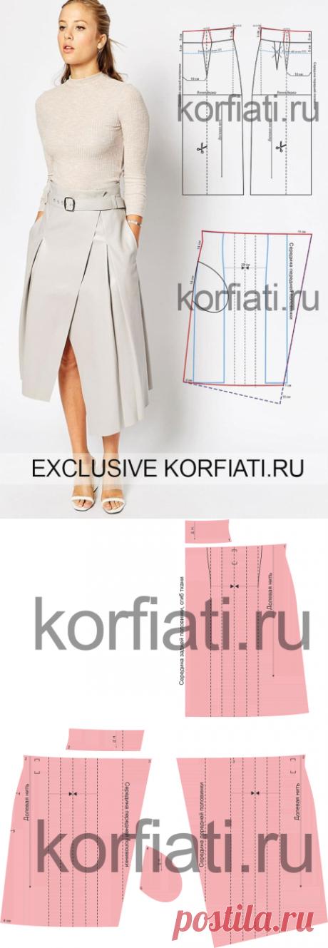 Выкройка расклешенной юбки от Анастасии Корфиати