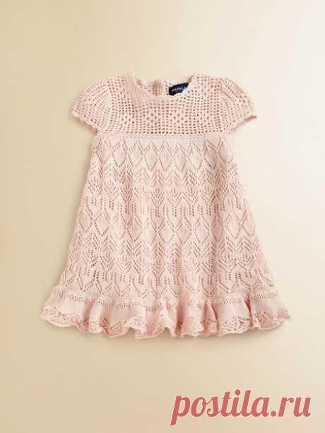 Платье спицами для девчонки.