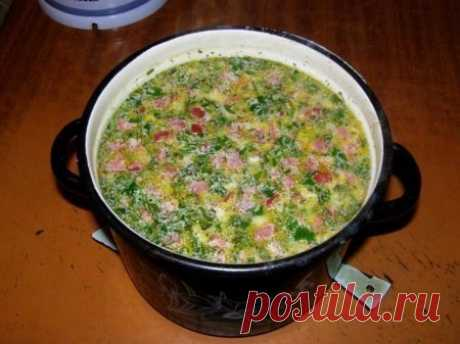 Горячий сырный суп с колбасой / Изысканные кулинарные рецепты