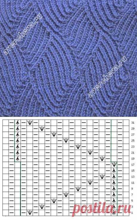(961) Pinterest - узор 285| каталог вязаных спицами узоров | узоры спицами