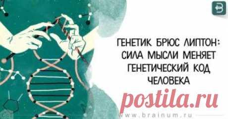 Генетик Брюс Липтон: Сила мысли меняет генетический код человека - 4me Экология жизни: Американский генетикБрюс Липтонутверждает, что с помощью истинной веры, исключительно силой мысличеловеки в самом деле способен избавиться от любой ...