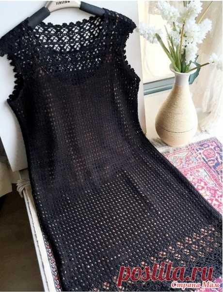 . Классика. Вечернее платье черного цвета. - Все в ажуре... (вязание крючком) - Страна Мам