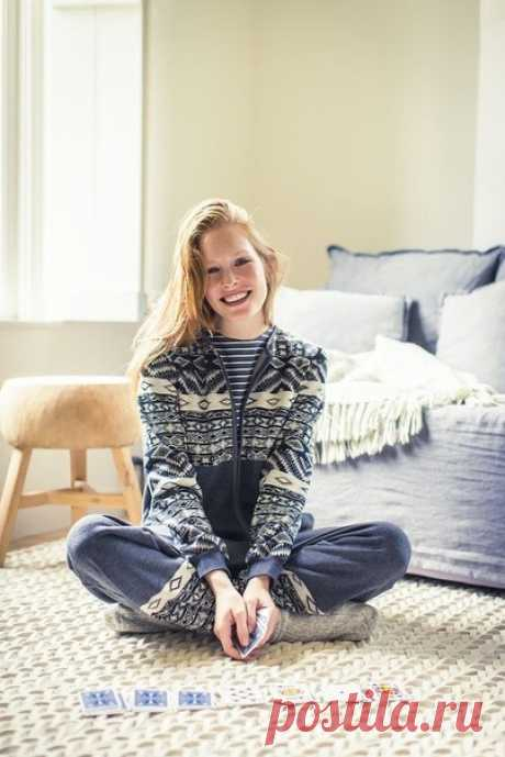Выкройка комбинезона тёплой пижамы Модная одежда и дизайн интерьера своими руками