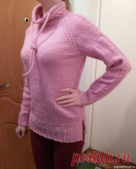 Свитер с завязками | Вязание для женщин спицами.