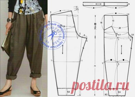 Стильно и удобно! Свободные брюки для любого возраста. Выкройка для желающих. | В жизни всякое бывает! | Яндекс Дзен