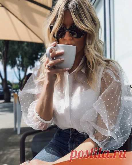 Шикарные белые блузки — Красота и мода