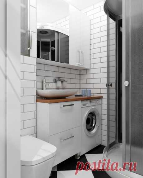 Место всегда найдётся: 20 компактных ванных комнат — Roomble.com