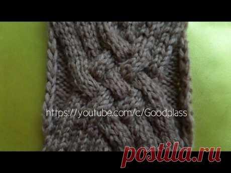 "Knitting by spokes. ""Переплетенные жгуты&quot pattern;."