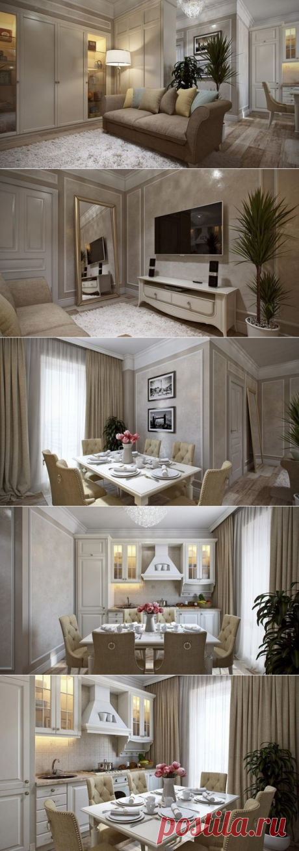 Дизайн квартиры 42 кв.м. - Дизайн интерьеров   Идеи вашего дома   Lodgers