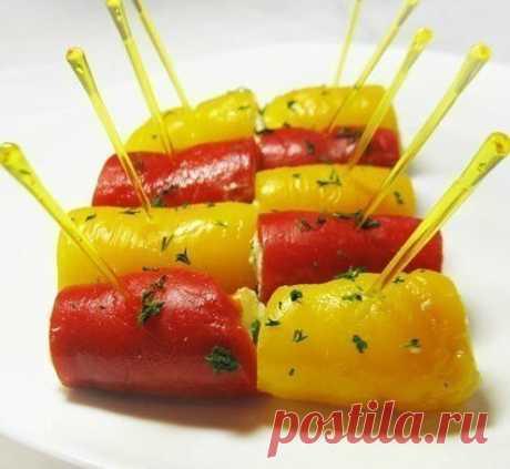 Рулетики из болгарского перца с сыром | !!!Готовим вкусно!!! | Яндекс Дзен