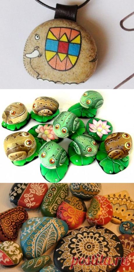Идеи росписи по морским камням