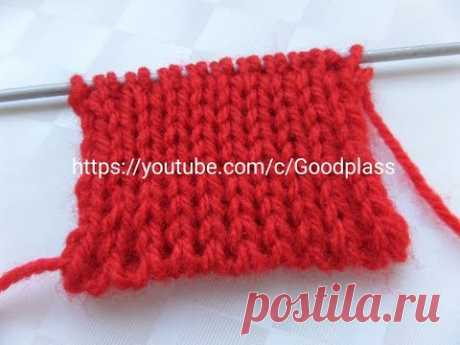 Pattern Magnificent, double elastic band. Knitting by spokes. Knitting(Hobby).