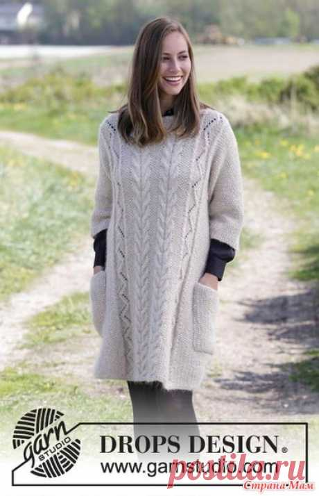 Warm tunic with pockets (spokes) - Knitting - the Country of Mothers