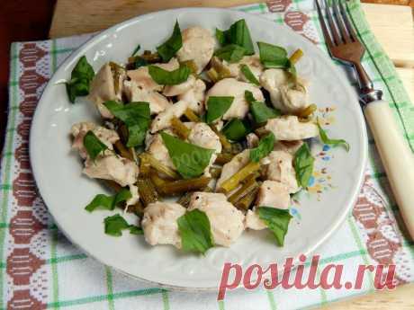 Курица с фасолью стручковой рецепт с фото пошагово - 1000.menu