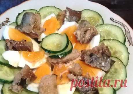 Худеем: Салат с тунцом, яйцом и огурцом | Бюджетные и простые рецепты | Яндекс Дзен