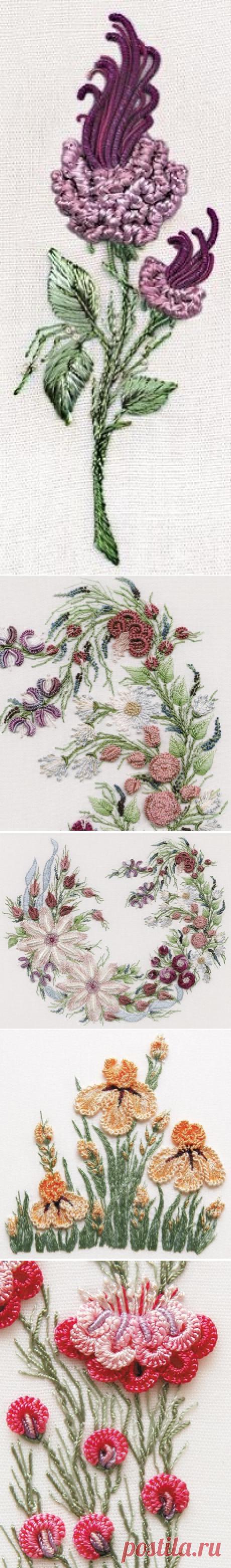 Роскошные идеи вышивки в стиле рококо