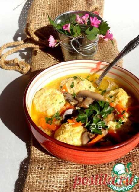 Суп с рисовыми фрикадельками - кулинарный рецепт