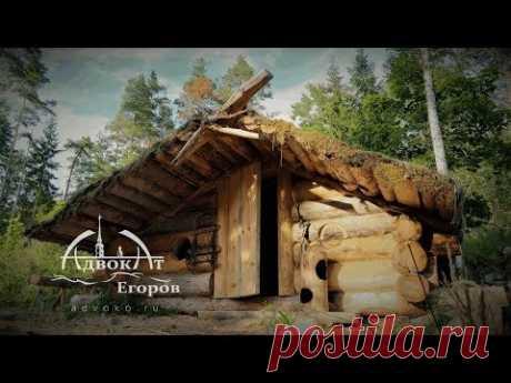Изба адвоката Егорова традиционная медведоустойчивая дверь на подпятниках