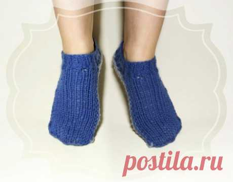 Короткие носочки спицами за пару часов » «Хомяк55» - всё о вязании спицами и крючком