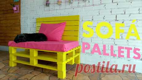 Sofa for giving from wooden pallets