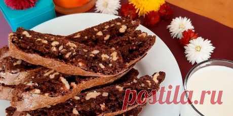 Кофейное бискотти с орешками — Sloosh – кулинарные рецепты