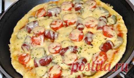 Пицца на сковороде за 10 минут - пошаговые рецепты