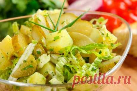 Салат из пекинской капусты с огурцом и картофелем – пошаговый рецепт с фото.